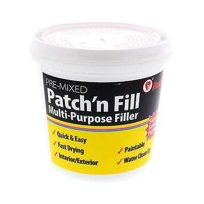 Filler Ready Mix Patch Fill Fast Drying Paintable Interior Exterior Red Devil 1L