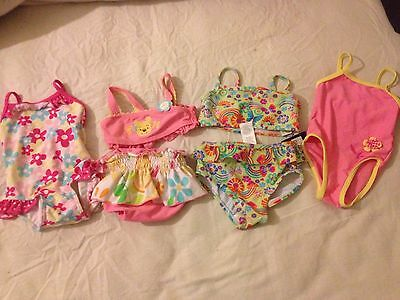 baby girl swimsuits 3-6, 6-9 & 9-12 months