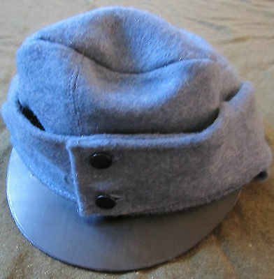 Wwi Austro-Hungarian 1916 Infantry Blue Wool Field Cap-Large