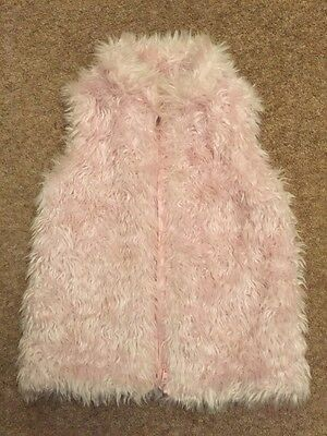 Marks and Spencer's Soft And Fluffy Pink Gillet / Body warmer Party Christmas