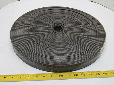 "1-Ply Smooth Top Black PVC Rubber 2-Sided Conveyor Belt 1-1/2"" Wide 106' Long"