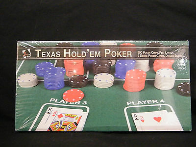 Texas Hold'em Poker Set 300 Chips - New - Free Post