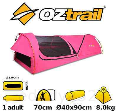 Oztrail Kokomo King Single Canvas (Mitchell Pink) Dome Swag