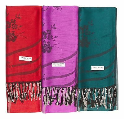 12 NEW 100% Soft Women Pashmina Scarf Shawl Stole WRAP Fashion Wholesale LOT