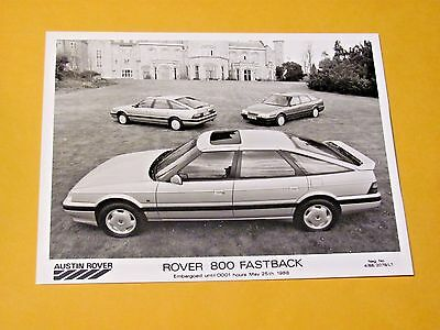 Rover 800 Fastback Original  Press Photo...