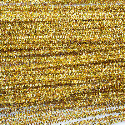 Tinsel Stems Gold  Pack of 100
