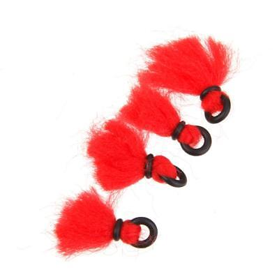 lot 4pcs Red Nylon Strike Indicator Floats Tackle Accessory For Fly Fishing