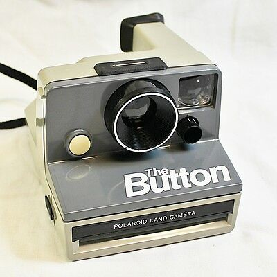 Polaroid Land Camera - The Button - Sx-70 Made in USA - Tested & working