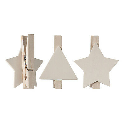 Christmas Assorted Peg Shapes  Pack of 10