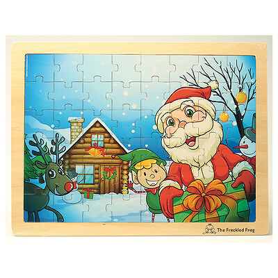 Winter Christmas Wooden Tray Puzzle