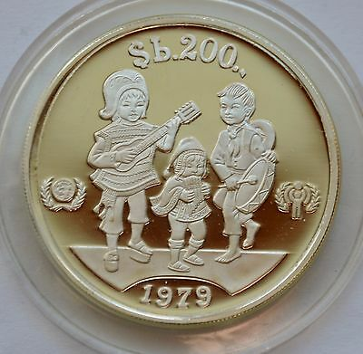 BOLIVIA 200 Pesos Bolivianos 1979 Silver - Year of the Child