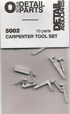 5002 Carpenter Tool Set (10) O Scale.. white metal parts-use with O/ON3 and On30