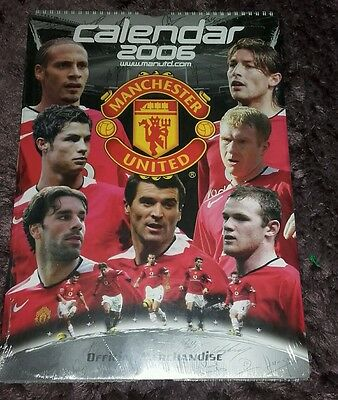2006 Manchester United calendar - official & unopened - Ronaldo / Rooney / Giggs