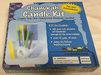 Chanukah Candle Kit- Create Your Own Honeycomb Beeswax Candles