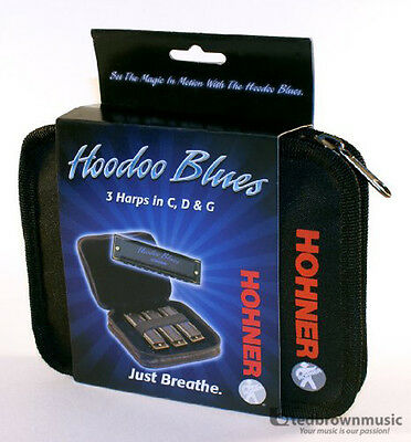 Hohner HBP - HooDoo Blues Pack - Set of 3 Harmonicas G/D/C with Case