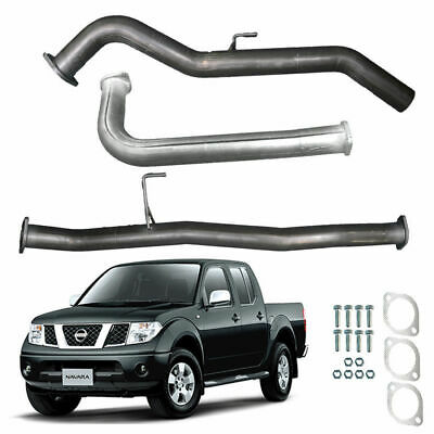 "Nissan Navara D40 2.5L Td 07 On 3"" Inch Dpf Back Sports Exhaust Pipe Silver"