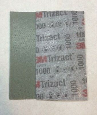 1 x 3M 51260 Trizact Feuille Abrasive Hookit Flexible P1000 - 80 x 140 mm