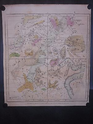 Gemini Cancer Taurus Orion Celestial Map 1835 By Burnitt Huntington Hand Colored