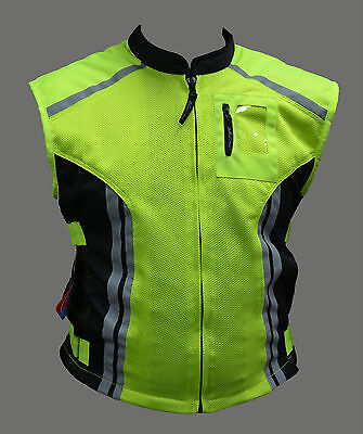 Black Ash Motorcycle Military Reflective Safety Vest Mesh Medium