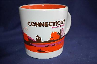 "Dunkin Donuts ""Connecticut Runs on Dunkin"" 2012 Ceramic Coffee Cup Mug NICE!"