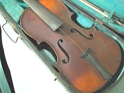 Antique  3/4 Size Violin  With  Case & Bow