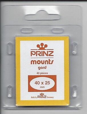 Package of 40 Prinz CLEAR Mounts 40 x 25