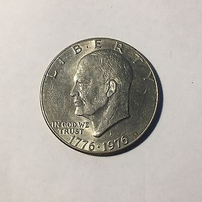USA 1776 1976 Bicentenary Dollar Coin Ike Eisenhower American One $1