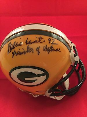 Reggie White Signed Packers Throwback Mini Helmet Rare (Deceased 2004)