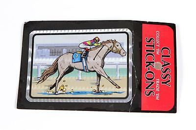 Vintage Prism Sticker Horse Racing w/Jockey Jewel Sticker Co. Magic of Prism