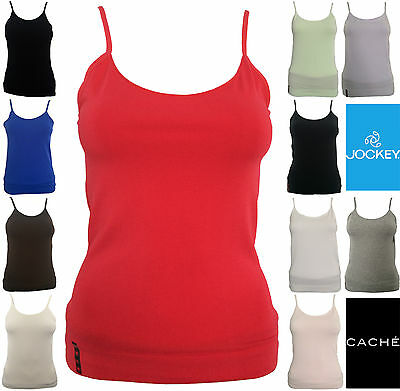 JOCKEY | CACHE | Ladies Girls Womens Plain Blank Camisole Singlet Tank Top Shirt
