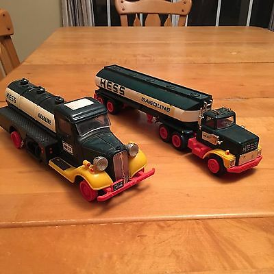 1982 The First Hess Truck Oil Delivery Truck Red Switch and 1984 Tanker