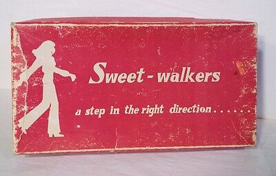 Vtg Sweet-walkers Charter Footwear Shoe Box a step in the right direction USA