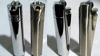 NEW Metal PIPE CLIPPER Lighter Angled Flame Gift Tobacco Stash Rizla Tin