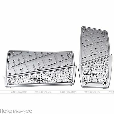 Automatic Transmission Silver Car Pedal Cover For Brake Clutch Accelerator New