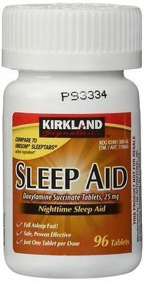 Kirkland Sleep Aid Doxylamine Succinate 25mg Sleeping  (2 bottles, 192 tabs)