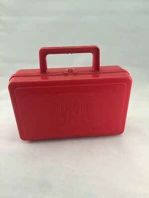 1 RARE VINTAGE BURGER KING WHIRLEY INDUSTRIES Plastic Lunch/Pencil Boxes