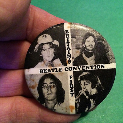 Vintage Britains First Beatles Convention Button Pin Badge