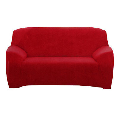 Stretch Solid Sofa Cover Loveseat Loveseat 2 Seater Couch Removable Slipcover au