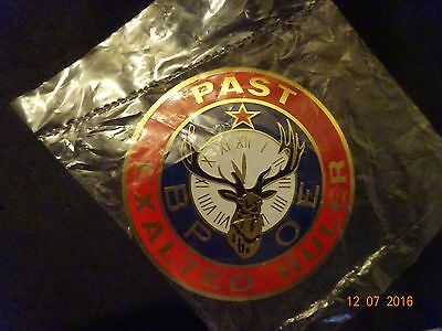 BPOE ELKS Past Exalted Ruler NEW Window Plaque(Sealed Package)