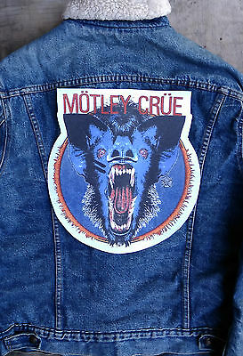 motley crue Giant back patch, nice for vintage jacket or flannel shirt