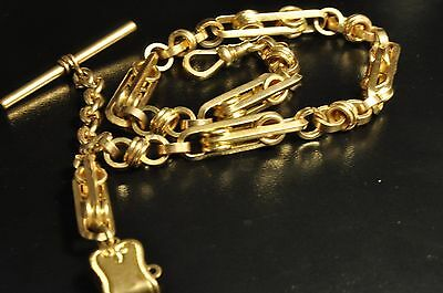 beautiful unique design Antique  gold filled pocket watch single chain fob