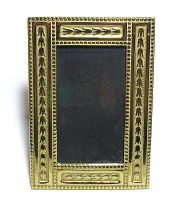"""Colonial Williamsburg 3"""" X 5"""" Solid Brass Antique Repro  Picture Frame # 1215"""