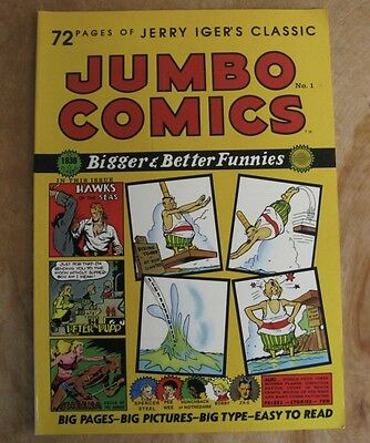 Jerry Iger's Jumbo Comics #1 1985 Blackthorne Publishing 1938 Reprint Vg+