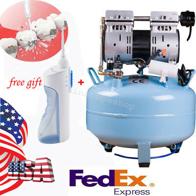 Quiet Noiseless Oilless oil-free Air Compressor pressure for dental chair IN US