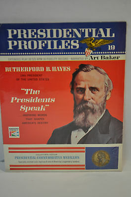 Presidential Profiles #19 RUTHERFORD B.HAYES 33 1/3 Record,Coin medal- Pamphlet