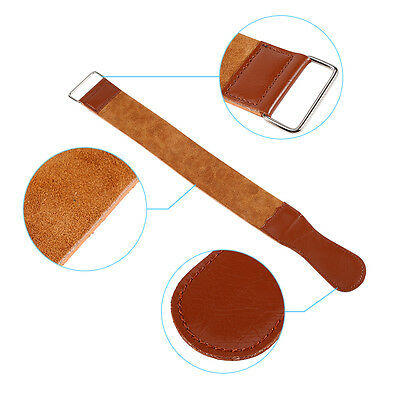 New Brown Barber Cow Leather Strop Straight Razor Sharpening Shave Shaving Strap