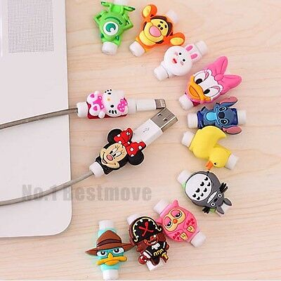 Cute USB Data Charger Cable Saver Protector for iPhone 5c 5S 6 6S Plus