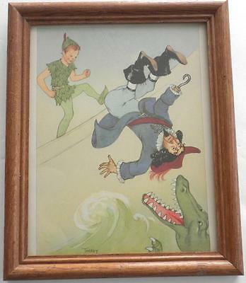 Walt Disney MARJORIE TORREY Illustrator PETER PAN Framed Random House 1957 Page