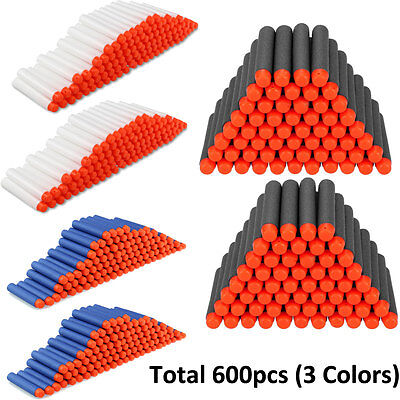 600pcs Foam Refill Bullets Darts for Nerf N-strike Elite Blasters Kids Toy Gun