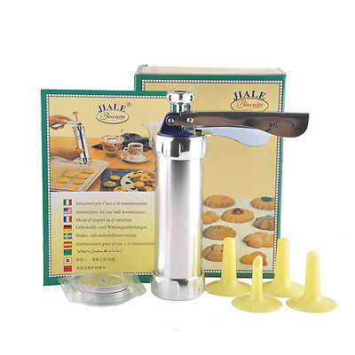 Biscuits Cookie Making Pump Press Machine With Cake Decoration Tools Set